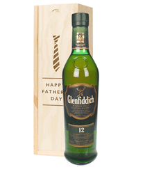 Glenfiddich 12 Year Old Single Malt Whisky Fathers Day Gift In Wooden Box