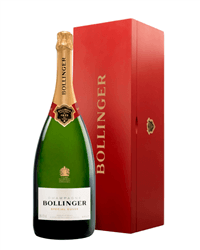 Bollinger Champagne Jeroboam 300cl in Wooden Gift box