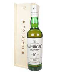 Laphroaig 10 Single Malt Whisky Thank You Gift In Wooden Box