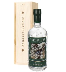 Sipsmith Gin Congratulations Gift In Wooden Box