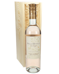 Pinot Grigio Rose Wine Gift in Wooden Box