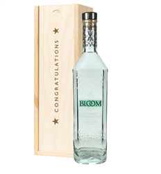Bloom Gin Congratulations Gift In Wooden Box