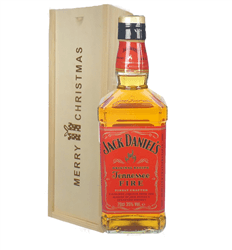 Jack Daniels Fire Whiskey Christmas Gift In Wooden Box