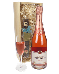 Taittinger Rose Champagne and Chocolates Gift Set