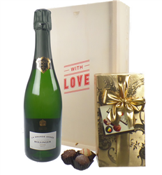 Bollinger Vintage Valentines Champagne and Chocolates Gift Box