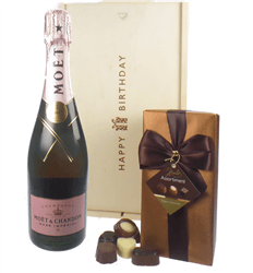 Moet & Chandon Rose Champagne and Chocolates Birthday Gift Box