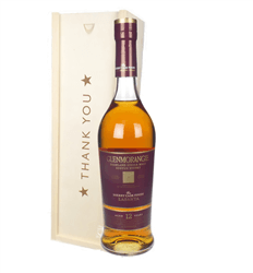 Glenmorangie Lasanta Single Malt Whisky Thank You Gift In Wooden Box