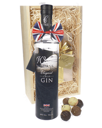 Chase Gin And Chocolates Gift Set in Wooden Box