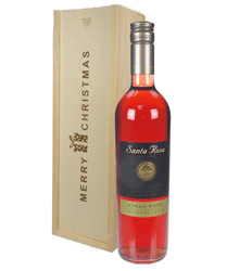 Argentinian Rose Wine Single Bottle Christmas Gift In Wooden Box