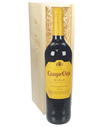 Rioja Tempranillo Red Wine Gift in Wooden Box