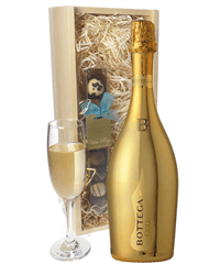 Botegga Gold Prosecco And Chocolates Gift