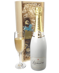 Lanson White Label Champagne and Chocolates Gift Set