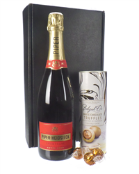 Champagne And Champagne Chocolate Truffles Gift