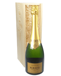 Krug Grande Cuvee Champagne Gift in Wooden Box