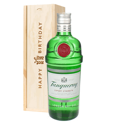 Tanqueray London Dry Gin Birthday Gift In Wooden Box