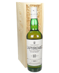 Laphroaig 10 Year Old Islay Single Malt Scotch Whisky Gift