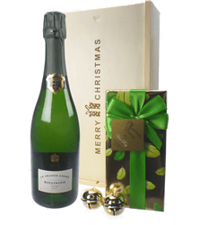 Bollinger Vintage Christmas Champagne and Chocolates Gift Box