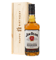 Jim Beam Kentucky Bourbon Whiskey Birthday Gift In Wooden Box