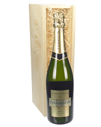 Chandon Brut Sparkling Wine Gift in Wooden Box