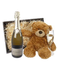 Louis Roederer Champagne and Teddy Bear Gift Basket