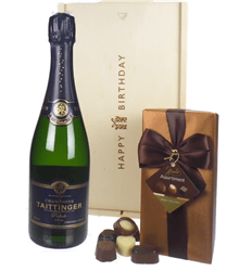 Taittinger Prelude Champagne and Chocolates Birthday Gift Box