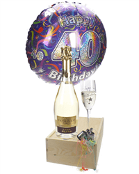 40th Birthday Prosecco And Flute Gift