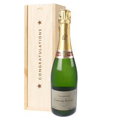 Laurent Perrier Champagne Congratulations Gift In Wooden Box