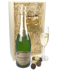 Perrier Jouet Champagne and Chocolates Birthday Gift Box
