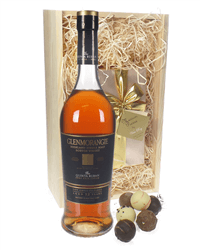 Glenmorangie Quinta Ruban and Chocolates Gift Set in Wooden Box