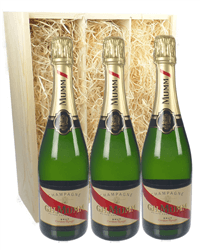 Mumm Three Bottle Champagne Gift in Wooden Box
