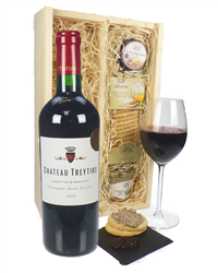 French Bordeaux Red Wine And Gourmet Food Gift Box