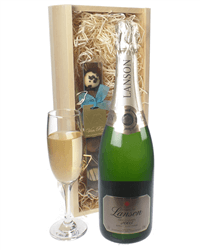 Lanson Gold Label Champagne and Chocolates Gift Set