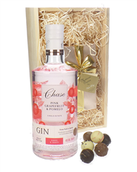Chase Pink Grapefruit Gin And Chocolates Gift Set