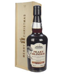 Peaky Blinder Spiced Rum Christmas Gift In Wooden Box