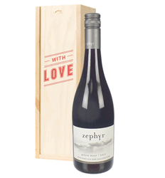 New Zealand Pinot Noir Red Wine Valentines With Love Special Gift Box