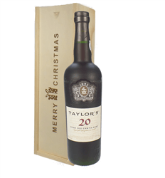 Taylors 20 Year Old Port Christmas Gift In Wooden Box