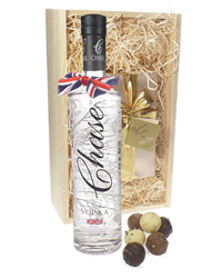 Chase Vodka And Chocolates Gift Set in Wooden Box