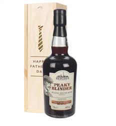 Peaky Blinder Spiced Rum Fathers Day Gift In Wooden Box