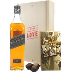 Johnnie Walker Black Label Whisky And Chocolates Valentines Gift