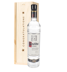 Ketel One Vodka Congratulations Gift In Wooden Box