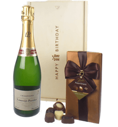 Laurent Perrier Champagne and Chocolates Birthday Gift Box