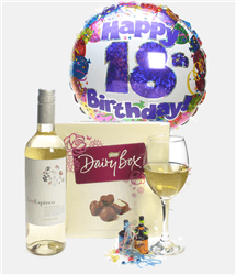 18th Birthday White Wine And Chocolates