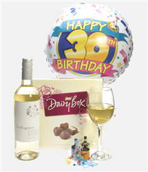 30th Birthday White Wine And Chocolates