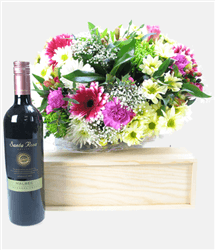 Red Wine And Flowers