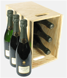 Bollinger Grande Annee Champagne Six Bottle Wooden Crate