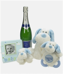 Colour Me Blue Baby Gift Basket