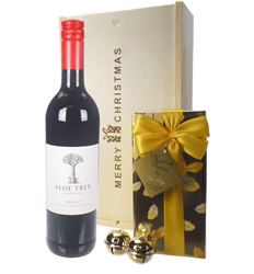 South African Red Wine Christmas Wine and Chocolate Gift Box