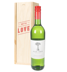 South African Chenin Blanc White Wine Valentines With Love Special Gift Box