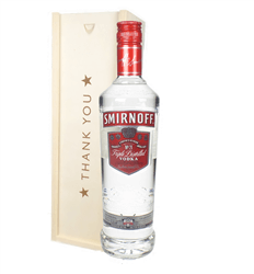 Smirnoff Red Label Vodka Thank You Gift In Wooden Box