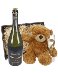 Prosecco and Teddy Bear
